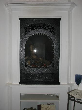 Park House Inn B&B: Wall gas fireplace unit.