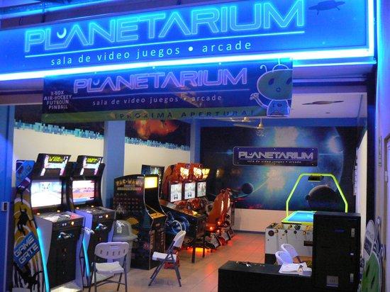 Planetarium Arcade: Front view
