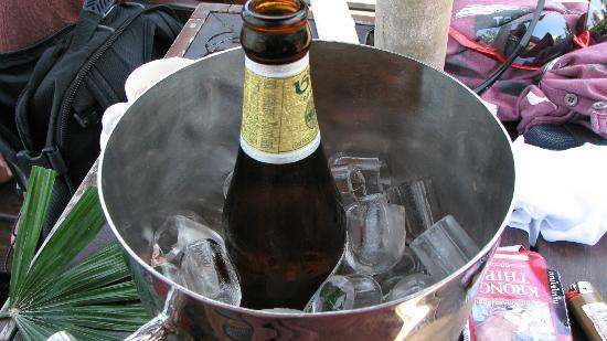 The Vijitt Resort Phuket: cold beer 