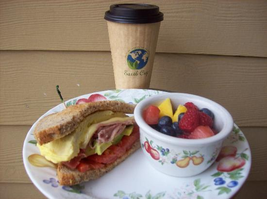 "Aqus Cafe: ""The Foundry"", Fruit Bowl, Earth-Friendly Go-Cup"