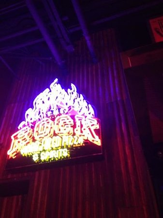 The Rock Wood Fired Kitchen: neon.