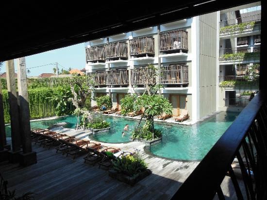 The Oasis Lagoon Sanur: View of pool from the lobby