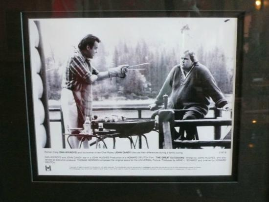 The Pines Resort: Picture of Dan Akroyd and John Candy hanging out on bass lake from movie GREAT OUTDOORS