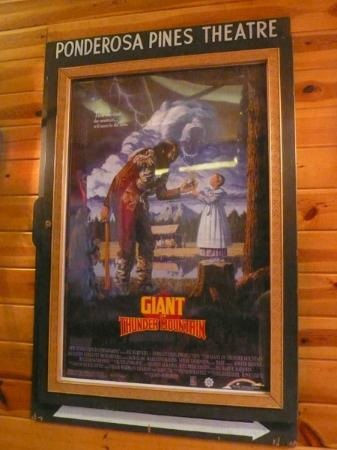 The Pines Resort: on the wall- another movie poster of a film shot around bass lake
