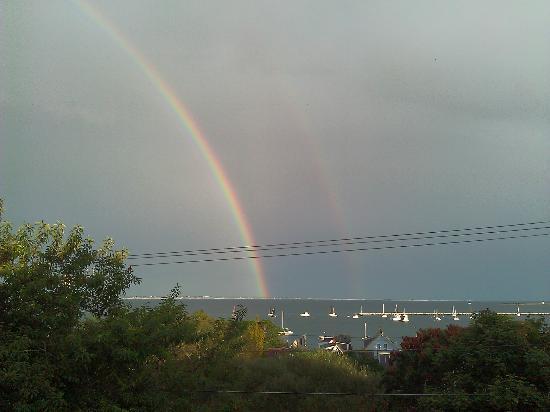 Aerie House: Rainbow over the cape
