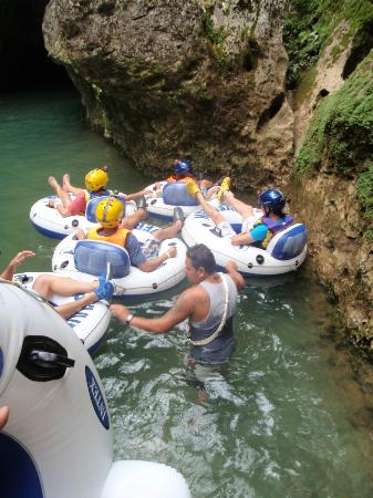 V.I.V. Tours: About to enter the water