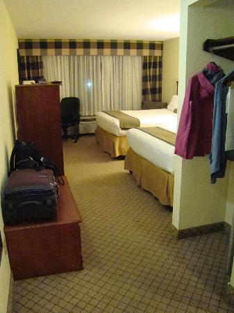 Holiday Inn Express Tampa Fairgrounds: Room with two double beds