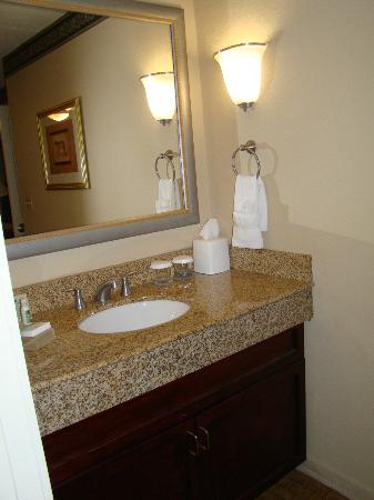 Homewood Suites by Hilton Charlotte Airport: Sink area outside of bathroom