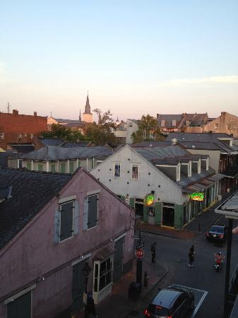 Four Points By Sheraton French Quarter: View of Bourbon from our balcony.