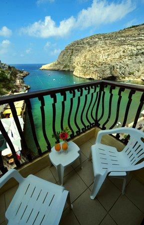 San Andrea Hotel : Xlendi bay view from balcony