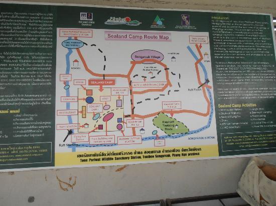 Phuket Sealand Co - Day Tours: Camp map