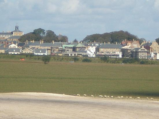 Maiden Castle: Poundbury - from half-way up.