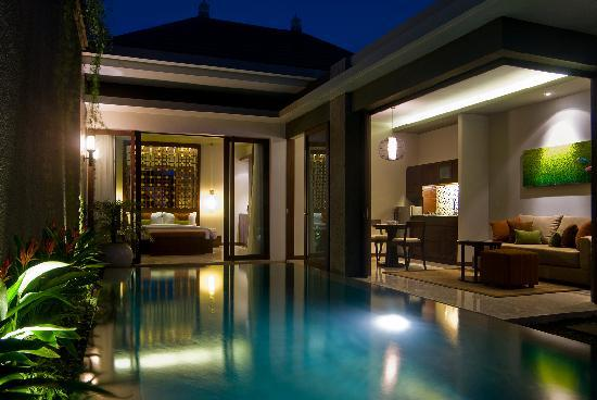 Seminyak Icon: One Bedroom Pool Villa - evening