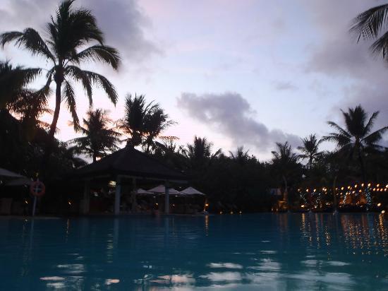 Padma Resort Legian: main pool at sunset