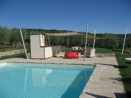 Il Cellese: Pool mit Sonnensegeln und Kühlschrank