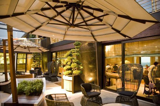 Il Boscareto Resort & Spa: Il Patio del Ristorante La REI