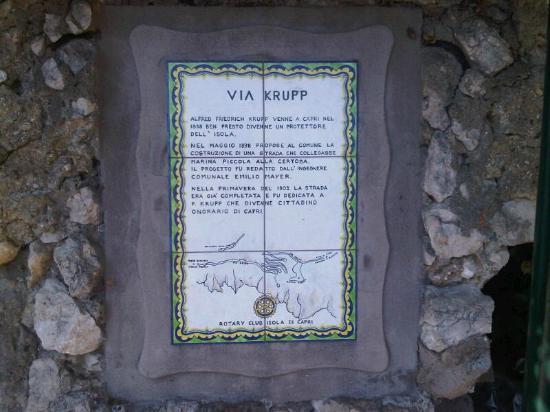 Melia Villa Capri Hotel & Spa: via Krupp
