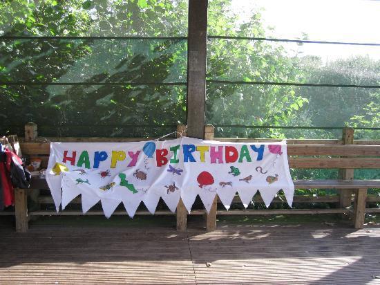 Ryton Pools Country Park: Birthday Banner.