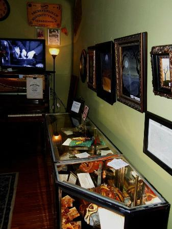 International Museum of Spiritual Investigations: Other haunted items on display, with local artwork on sale.