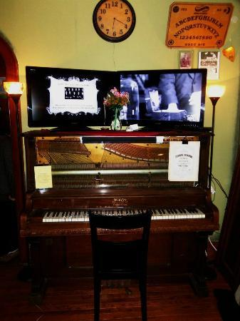 International Museum of Spiritual Investigations: The Baladerry Piano, and early 1900's Ouija Board.