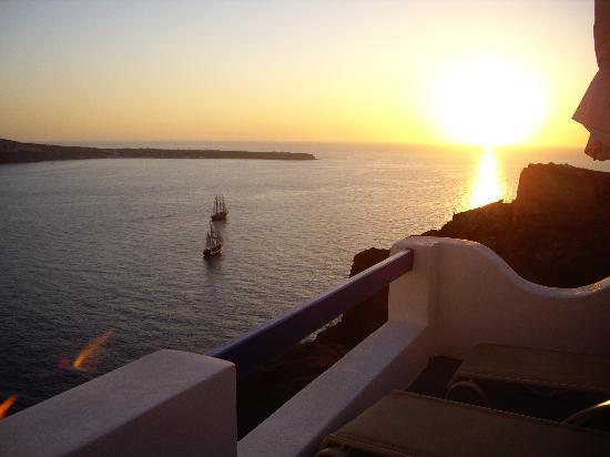 Esperas: Coucher de soleil depuis la terrasse