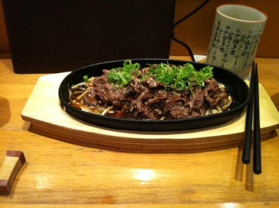 Iwase: Beef sth.... i really forget the name but it is fantastic . A+