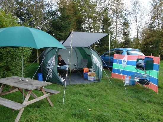 Packhorse Farm Camp Site: our little set-up !!
