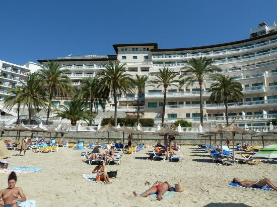 Cala Major, Spagna: front of the Hotel, on the beach