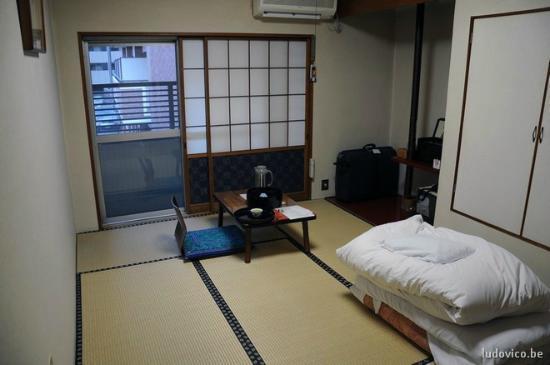 Bansuitei Ikoiso : zicht op m'n kamer in Sendai/Bansuitei (JP)