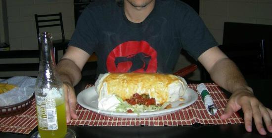 La Cabana Restaurant: Giant Burrito