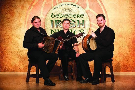 Belvedere Irish Night: Traditional Irish ballads and live music performed by a group of award winning Irish musicians