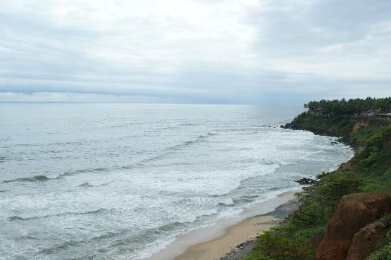 Sanctum Spring Beach Resort: Varkala cliffs from the helipad
