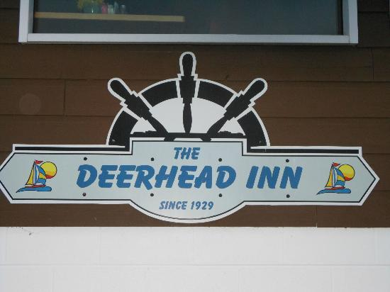 Deerhead Lakeside Restaurant & Bar: Sign