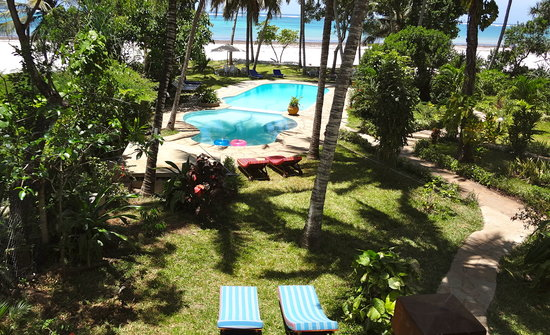 Galu Sea Lodge -Tamani: View from Monkey beach house