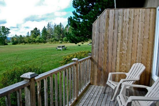 Silver Dart Lodge: Our private deck off the Chalet