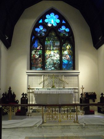 "Emmanuel Episcopal Church: Tiffany's ""Adoration of the Shepherds"" and Altar"