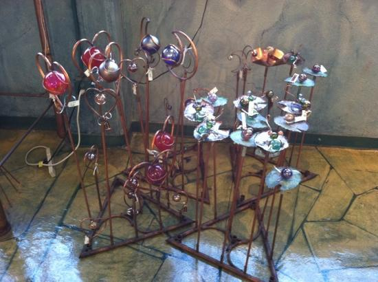 Sunspots Studios & Glassblowing: beautiful glassworks display