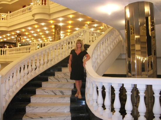 Cleopatra Palace Hotel: one of the sweeping marble staircases