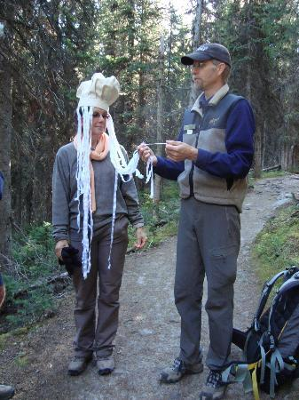 Great Divide Day Hikes: Fun and learning interpretation from Joel our guide!