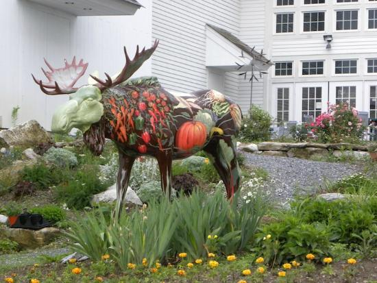The Bennington Center for the Arts: Painted Moose Sculpture
