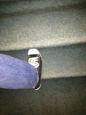 Freeland Hotel: En los escalones no cabe el pie, tienes que ir en puntillas