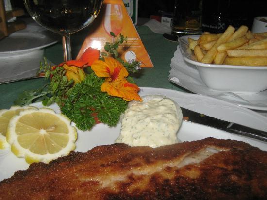 Hotel Garni Obermair: Fish & Chips at the Kristal