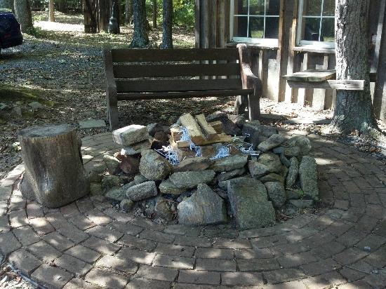 Lydia Mountain Cabins: Fire pit