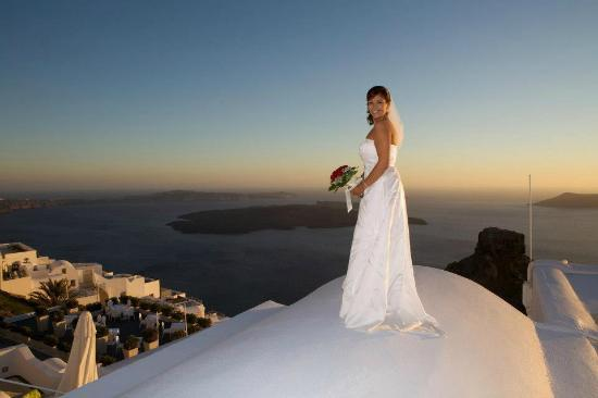 The Beautiful Bride on Top of The Astra Suites Roof