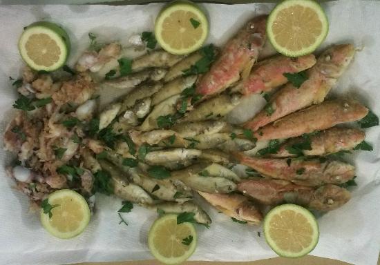 Pescheria Fratelli Vittorio : Frittura (sparacanaci, oparelle, calamaretti)