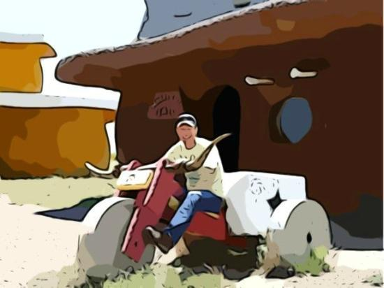 Flintstone's Bedrock City: Flinstone's Bedrock City in AZ - Cartoon Version of Photo