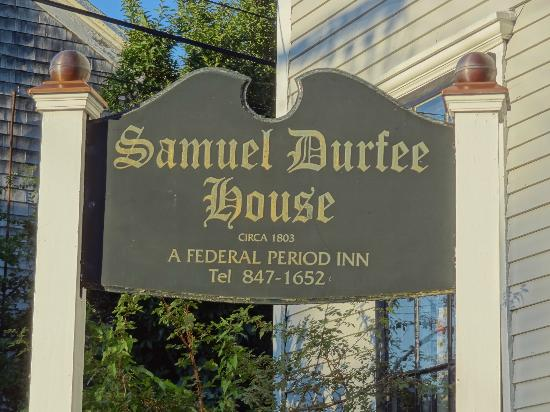 Samuel Durfee House: Bed & Breakfast