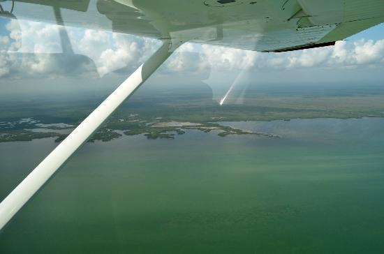 Chichen itza By Airplane: The Yucatan Coastline