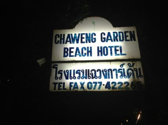 Chaweng Garden Beach Resort: Ancient Signage