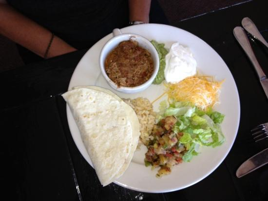 Stripers Bar and Grille : Pulled Chicken Taco - substituted the chicken for the Mahi fish - great combination too!